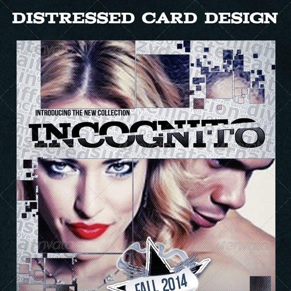 Modern Distressed Card Design Template