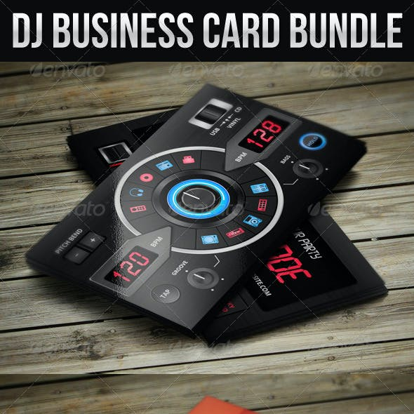 DJ Business Card Bundle