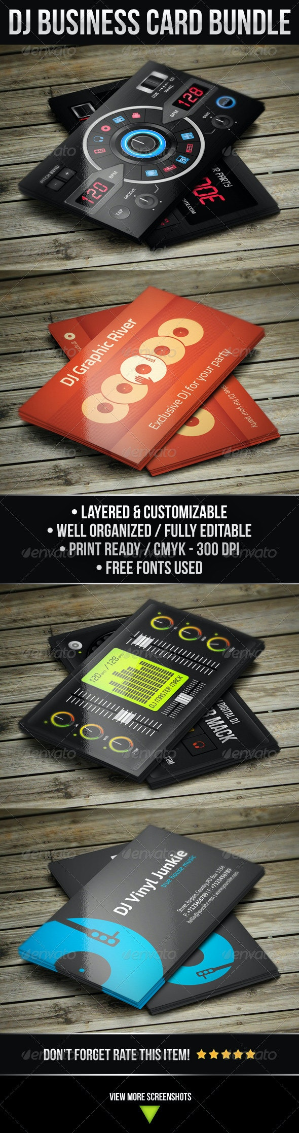 DJ Business Card Bundle - Industry Specific Business Cards