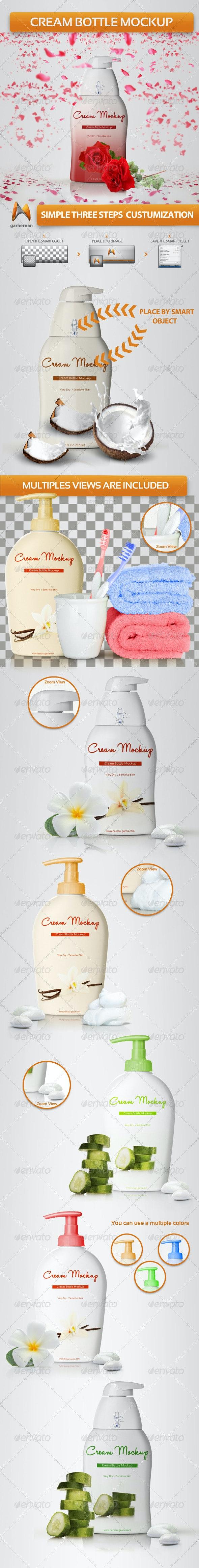 Cream Bottle Mockup - Beauty Packaging
