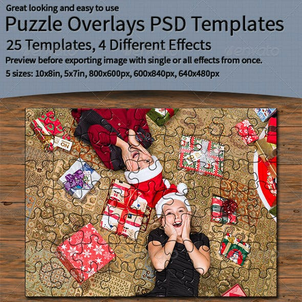 Puzzle Overlays PSD Templates