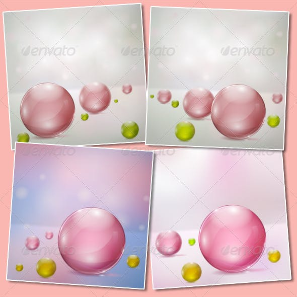 Abstract Backgrounds with Glass Spheres