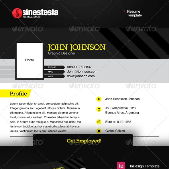 Get Employed Resume Template