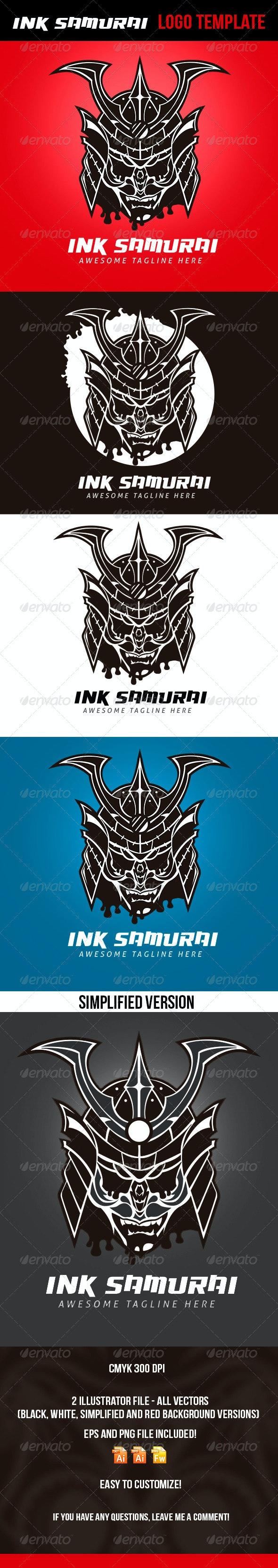 Ink Samurai Logo Template - Logo Templates