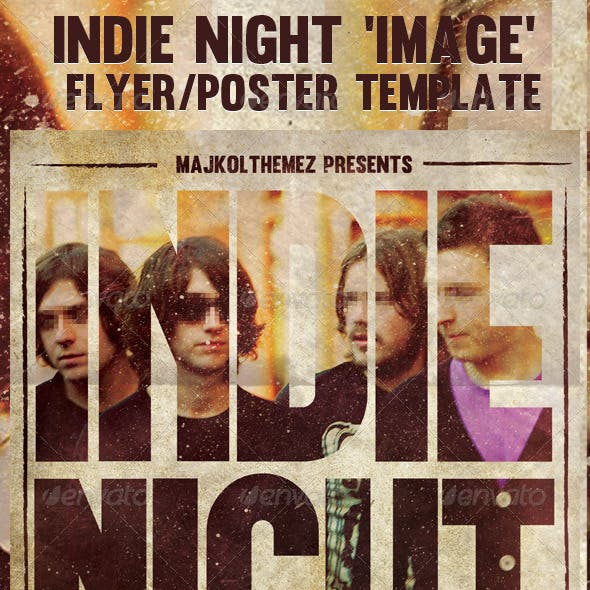 Indie Night Image Flyer/Poster Template