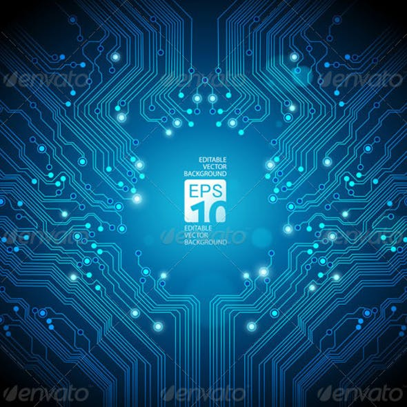 Abstract Circuit Board Background - 2