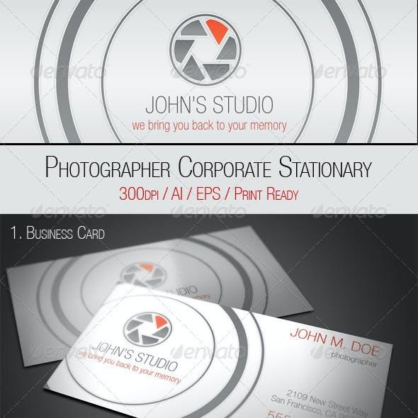 Photographer Stationary