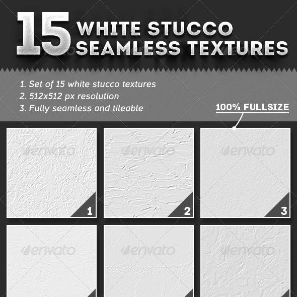 15 Seamless White Stucco Textures