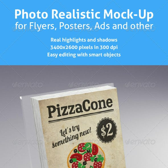 Realistic Mock-Up for Flyers, Posters and other