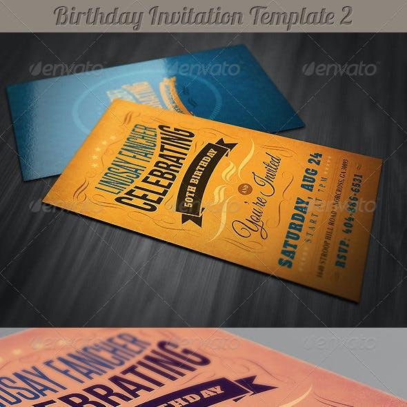 Retro Birthday Invitation 2