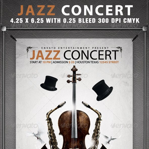 Jazz Concert Flyer Template