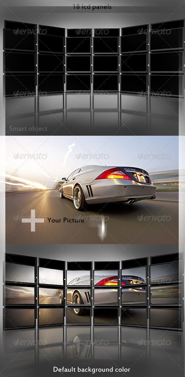 Tweak My Photo - Multi LCD Display - Backgrounds Graphics
