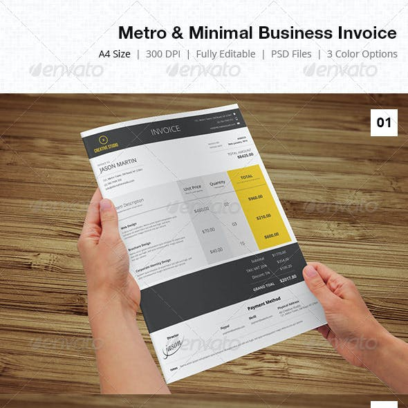 Metro & Minimal Business Invoice