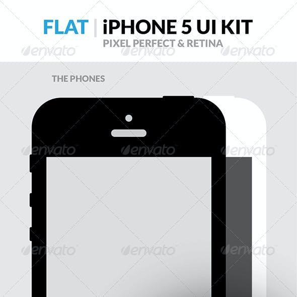 Flat iPhone 5 Retina UI Kit