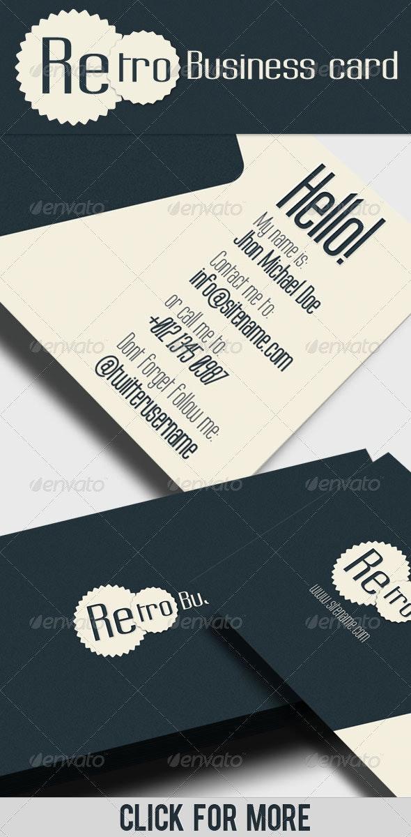 Business Card - Retro II - Corporate Business Cards