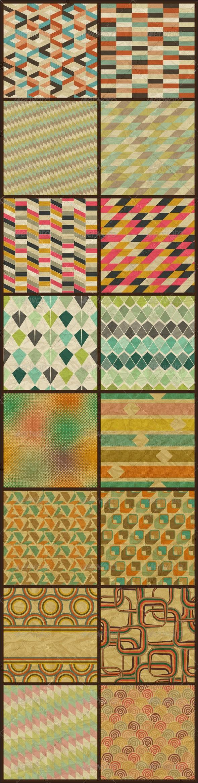 16 Seamless Retro Geometric Patterns. - Patterns Decorative