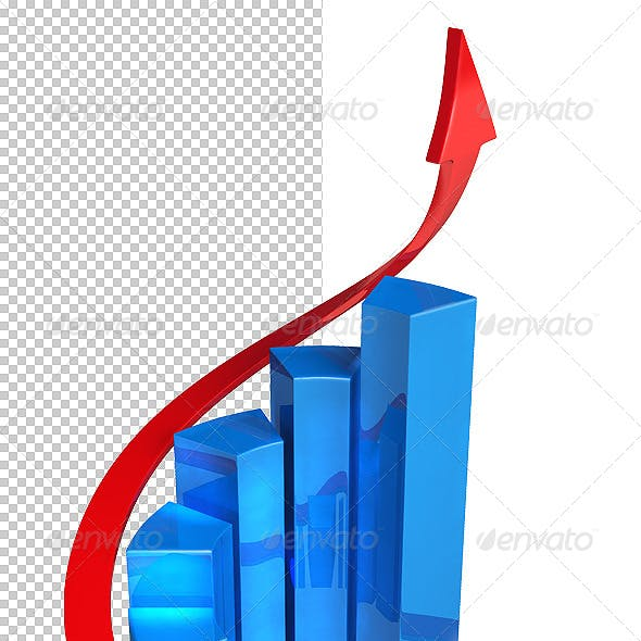 Isolated 3D Bar Graph 01