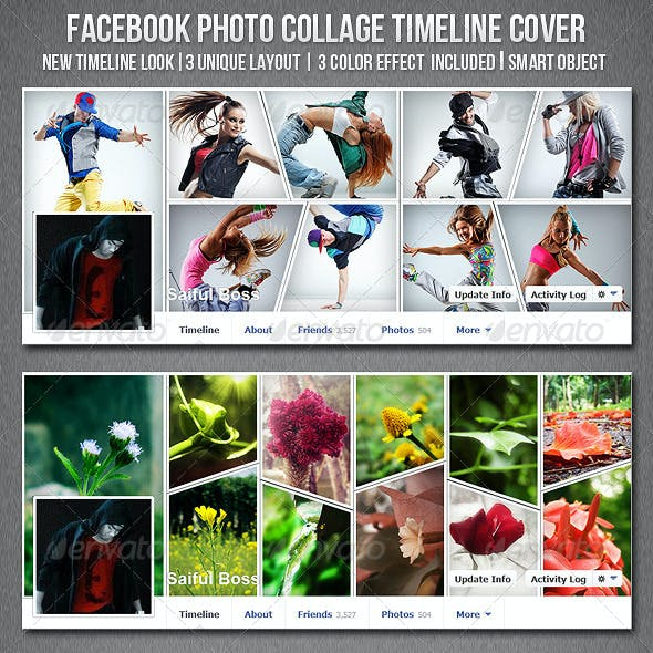 Facebook Photo Collage Timeline Cover