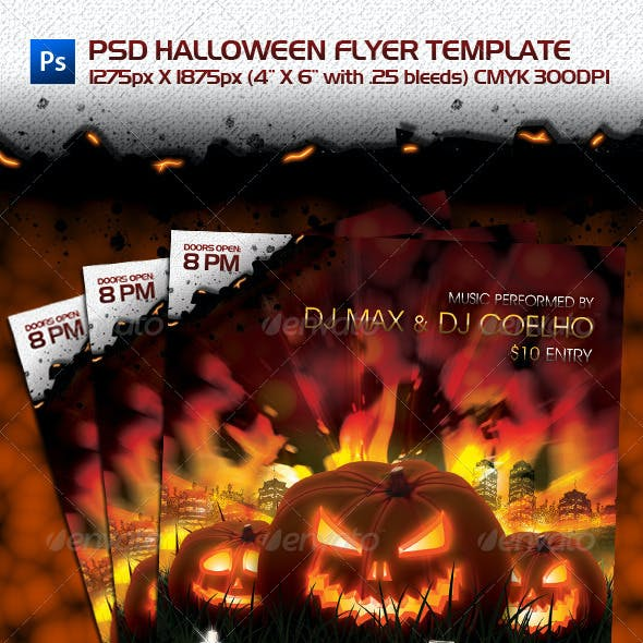 PSD Halloween Flyer Template
