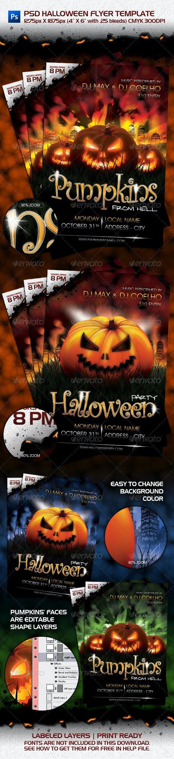 PSD Halloween Flyer Template - Clubs & Parties Events