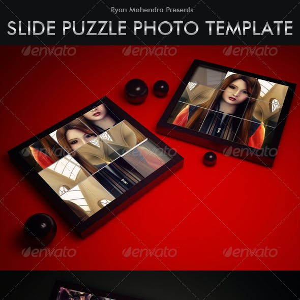 Slide Puzzle Photo Template