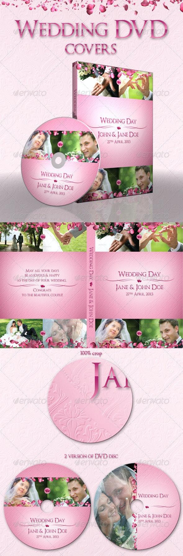 Wedding DVD covers - CD & DVD Artwork Print Templates