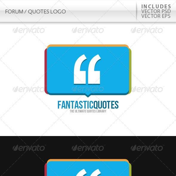 Forum / Quotes Logo