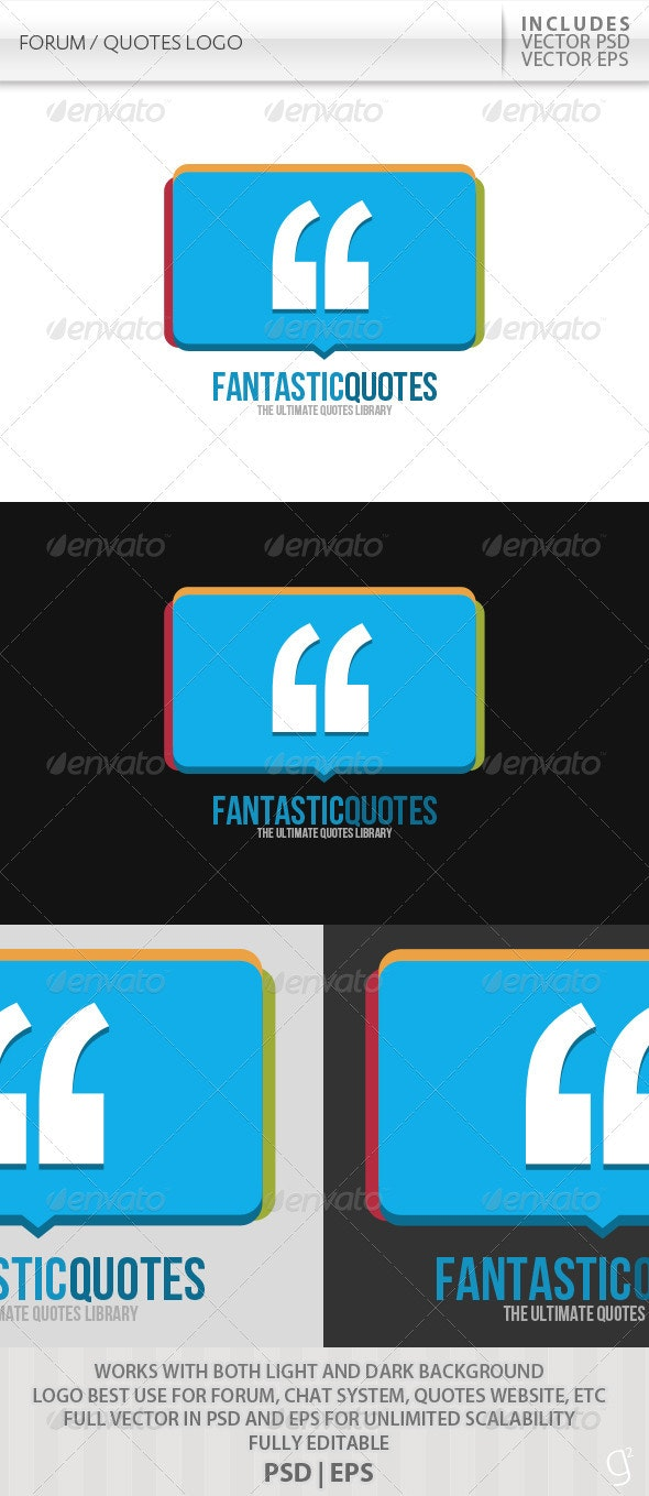 Forum / Quotes Logo - Symbols Logo Templates