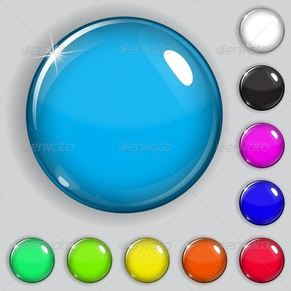 Multicolored Glass Buttons
