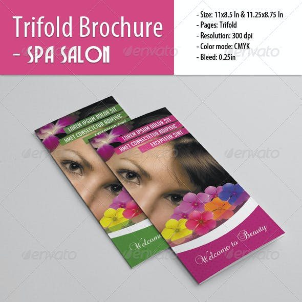 Trifold Brochure For Spa Salon
