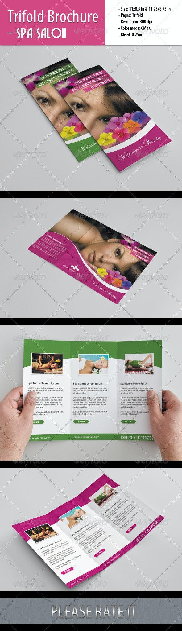 Trifold Brochure For Spa Salon - Corporate Brochures