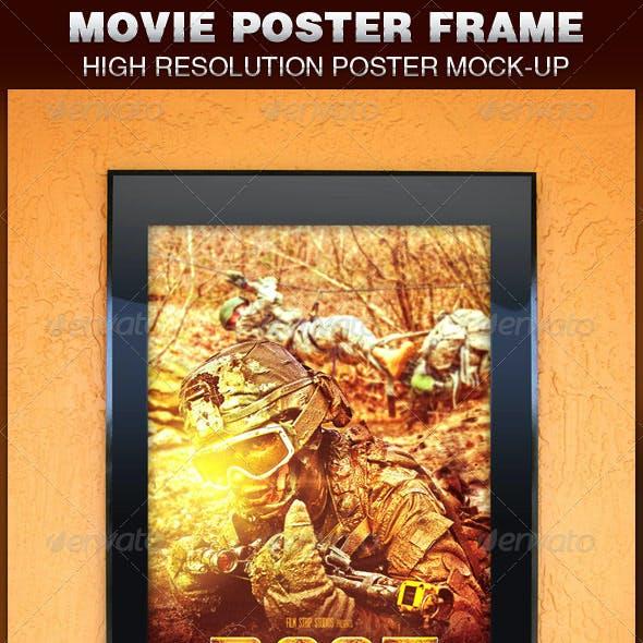 Movie Poster Frame Mockup Template