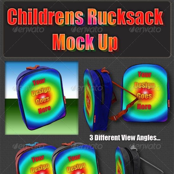 Childrens Rucksack Mock Up