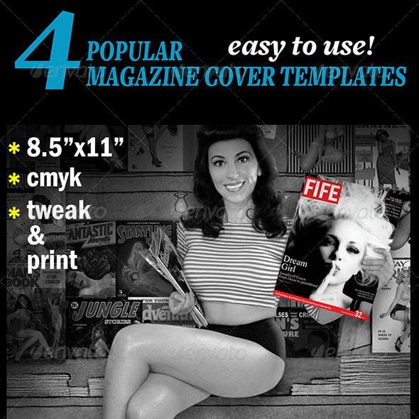 4 Popular Magazine Covers Templates