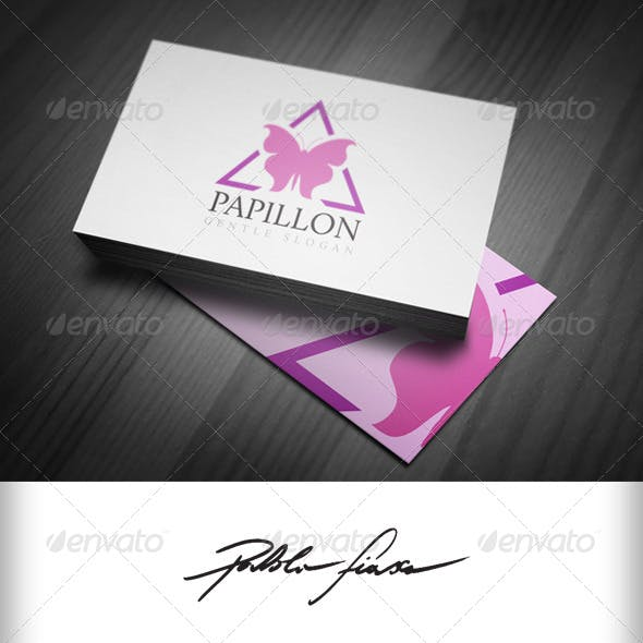 Spa Relaxation - Butterfly Papillon Logo