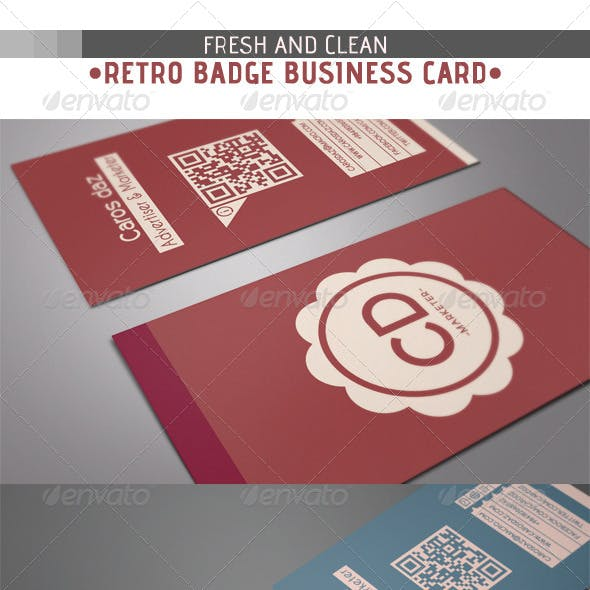 Retro Badge Business Card