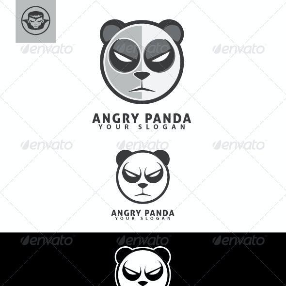 Angry Panda Logo Template