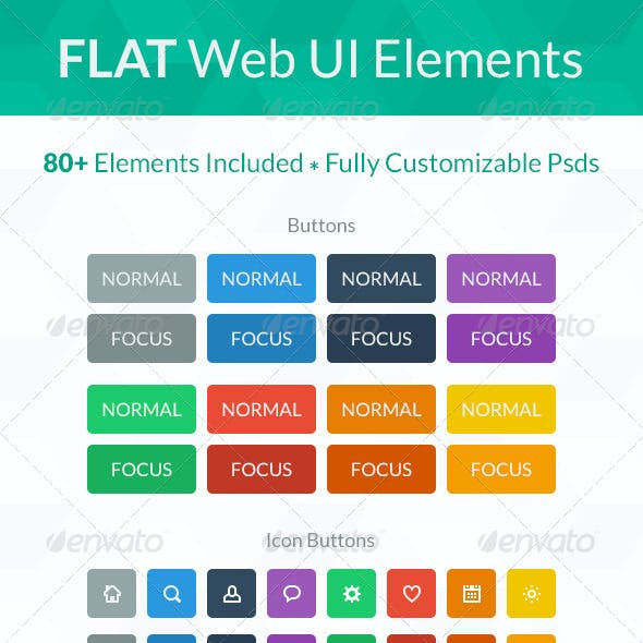 Flat Web UI Elements