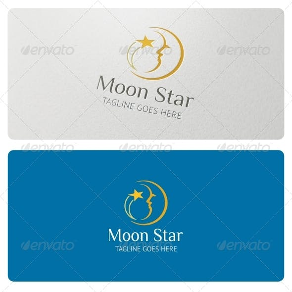 Moon Star Logo Template