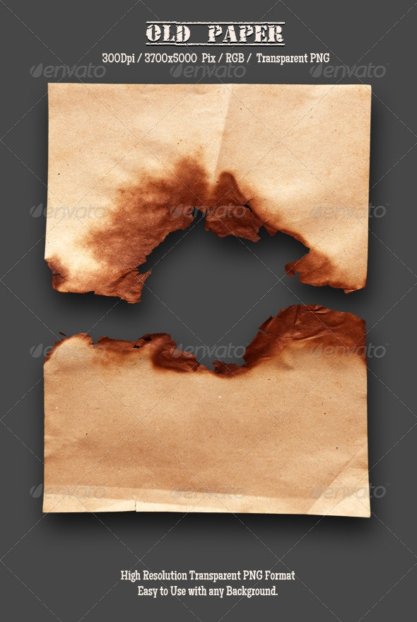 Burnt Old Paper 10 - Isolated Objects