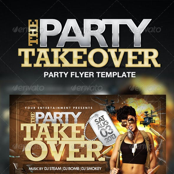 Party Takeover Flyer Template