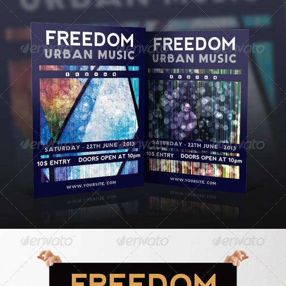 Freedom Freestyle Event Flyer