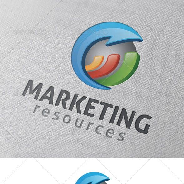 Marketing Stats Logo Template