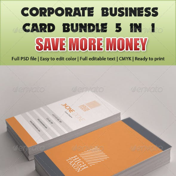 Corporate Business Card Mega Bundle 5 in 1