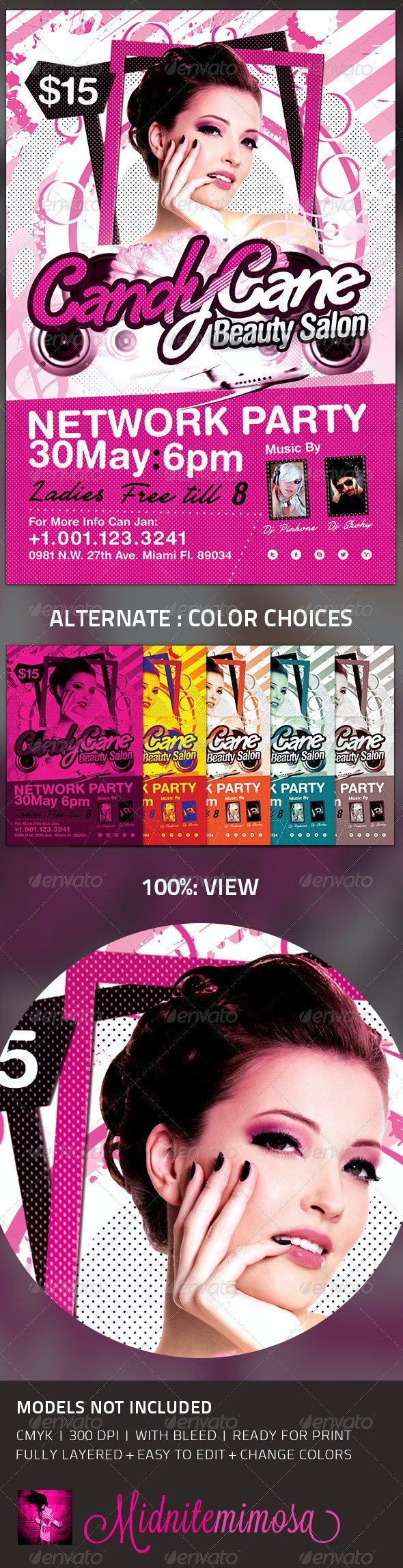 Beauty Salon - Network Party Template - Events Flyers