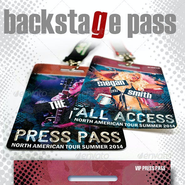 VIP Backstage Pass Template