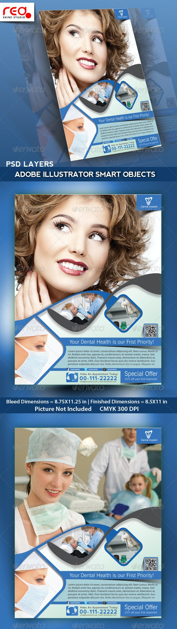 Dental Flyer, Poster & Magazine Template - Corporate Flyers
