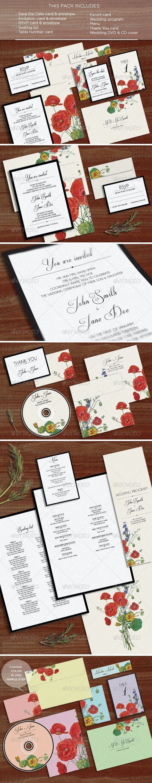 Flora: Wedding Pack - Weddings Cards & Invites