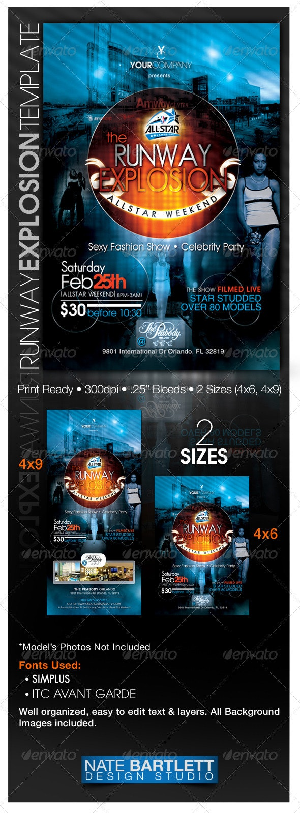 Runway Explosion Template - Clubs & Parties Events