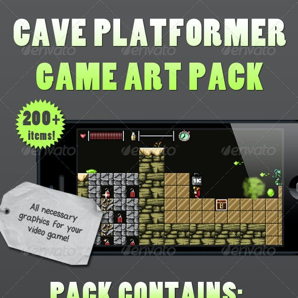 Cave Platformer Art Pack